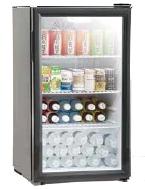 備蓄コンビニの冷蔵庫