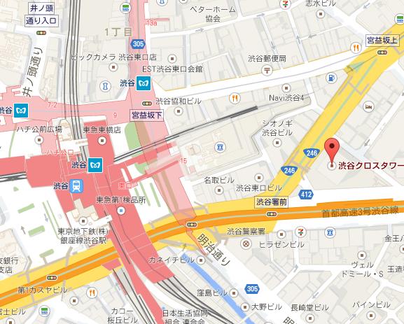 渋谷クロスター地図