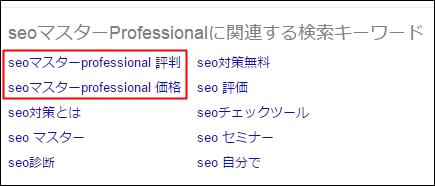 seoマスターProfessionalに関係するキーワード